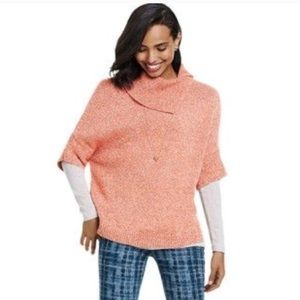 CAbi heather orange dolman sweater Sz Small